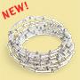 NEW! White Maasai Coil Bracelet
